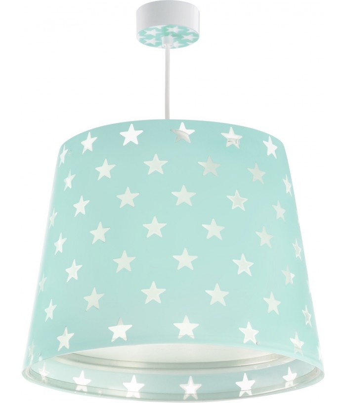 Hanging lamp for Kids Stars green