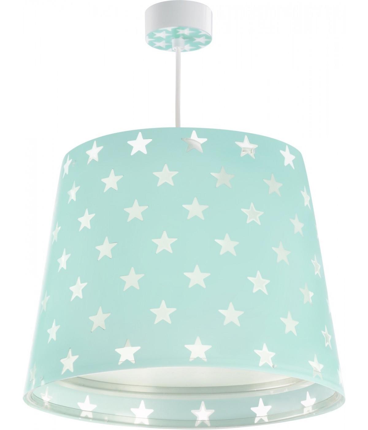 Lámpara de techo Infantil Stars Verde