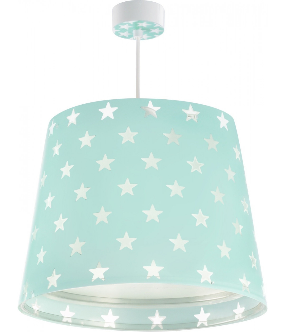 Hanging lamp for Kids Stars green