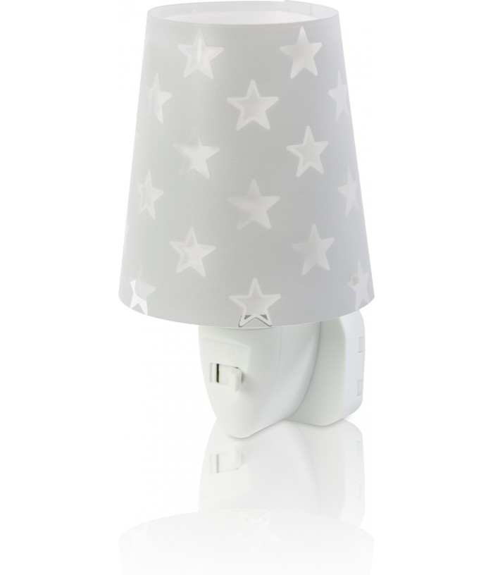 Nightlight for Kids Stars grey