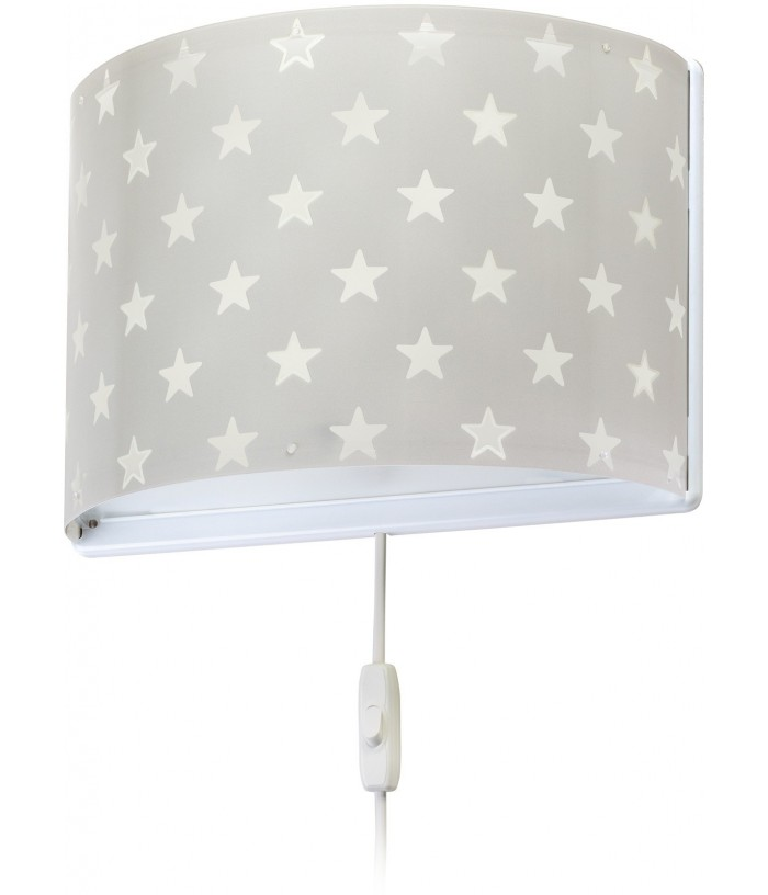 Aplique Infantil Pared Stars Gris