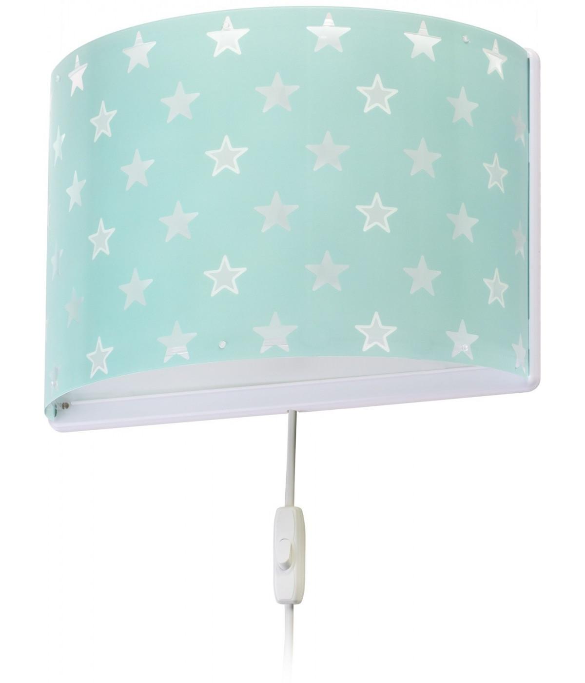 Wall lamp for Children Stars green