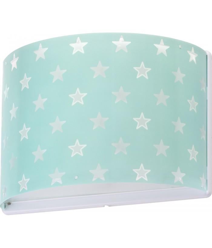 Aplique infantil de parede com estrelas Stars verde