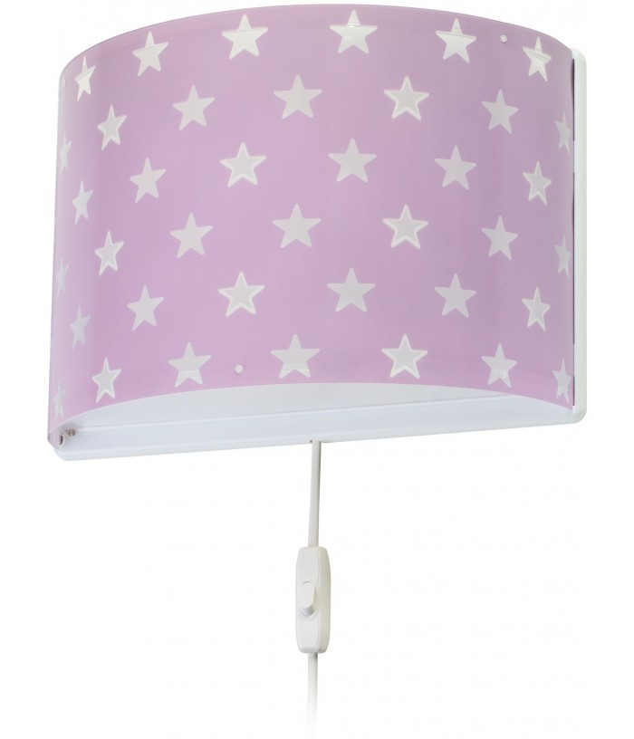 Children wall lamp Stars purple