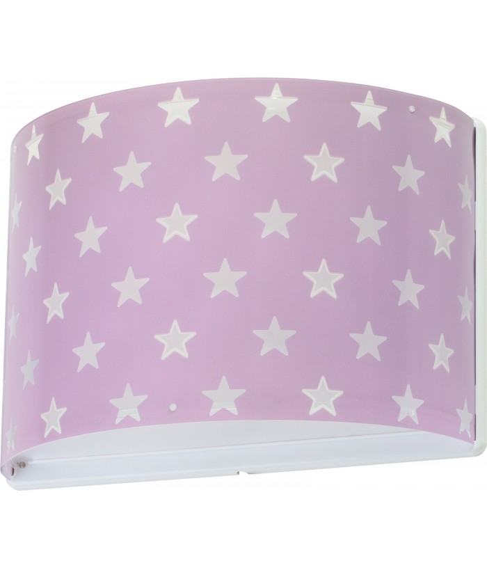 Wall lamp for Children Stars purple