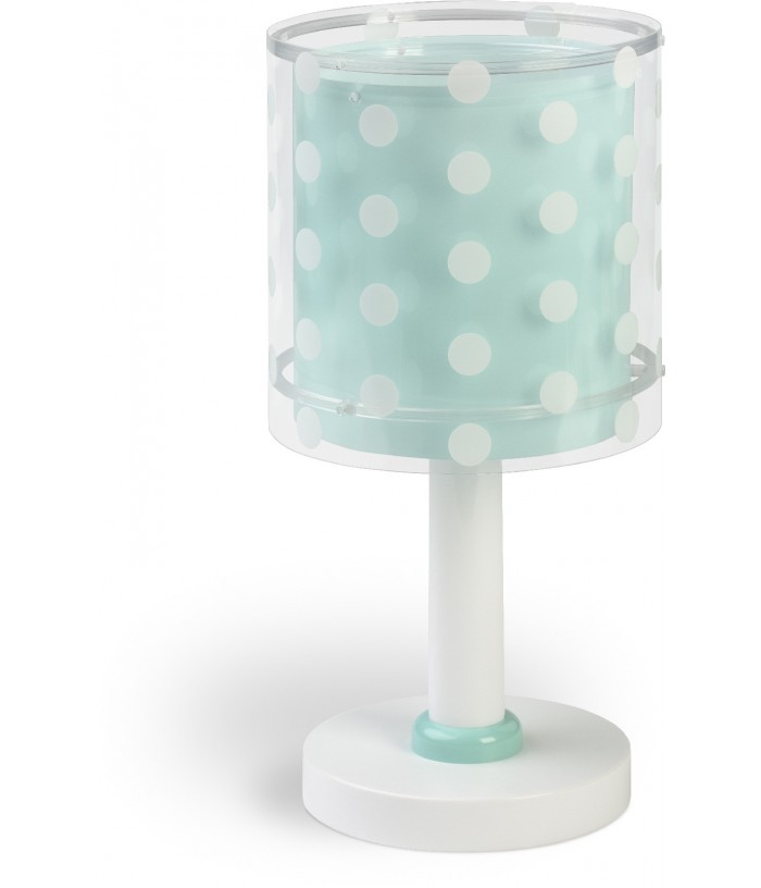 Table lamp for Children Dots turquoise blue