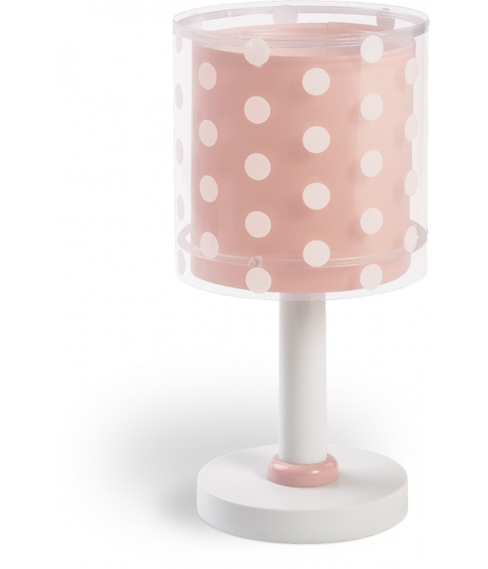 Children table lamp Dots coral