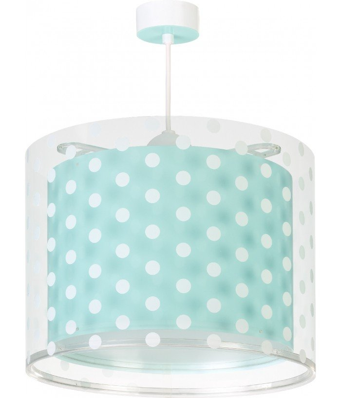 Hanging lamp Dots turquoise...
