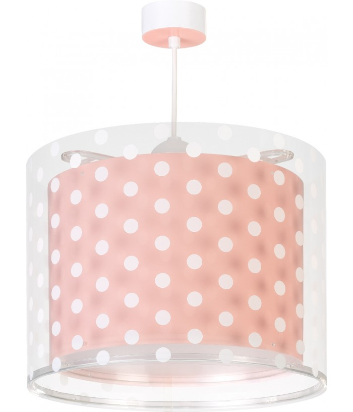 Children hanging lamp Dots coral