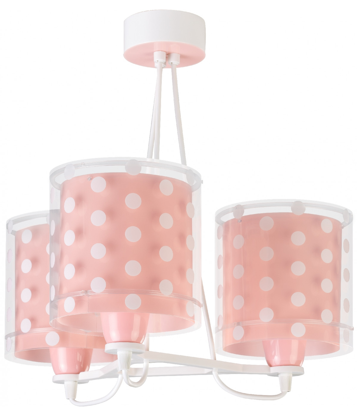 Children hanging lamp with 3 light Dots coral