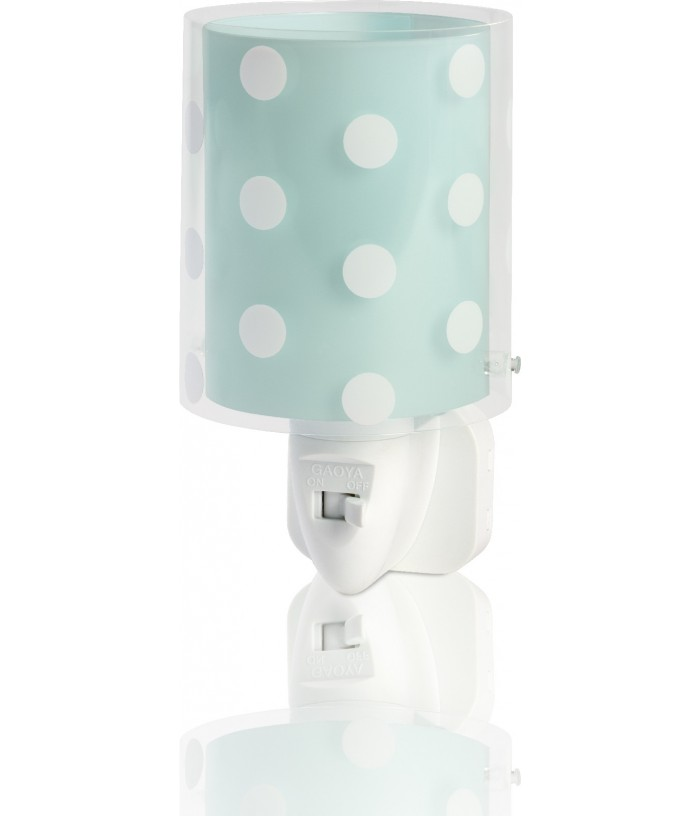 Kids Nightlight Dots turquoise blue