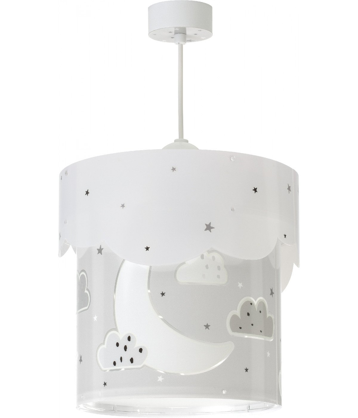 Hanging lamp for Kids Moon grey