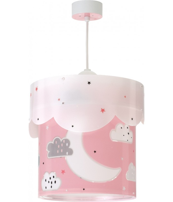 Children's Hanging lamp Moon pink