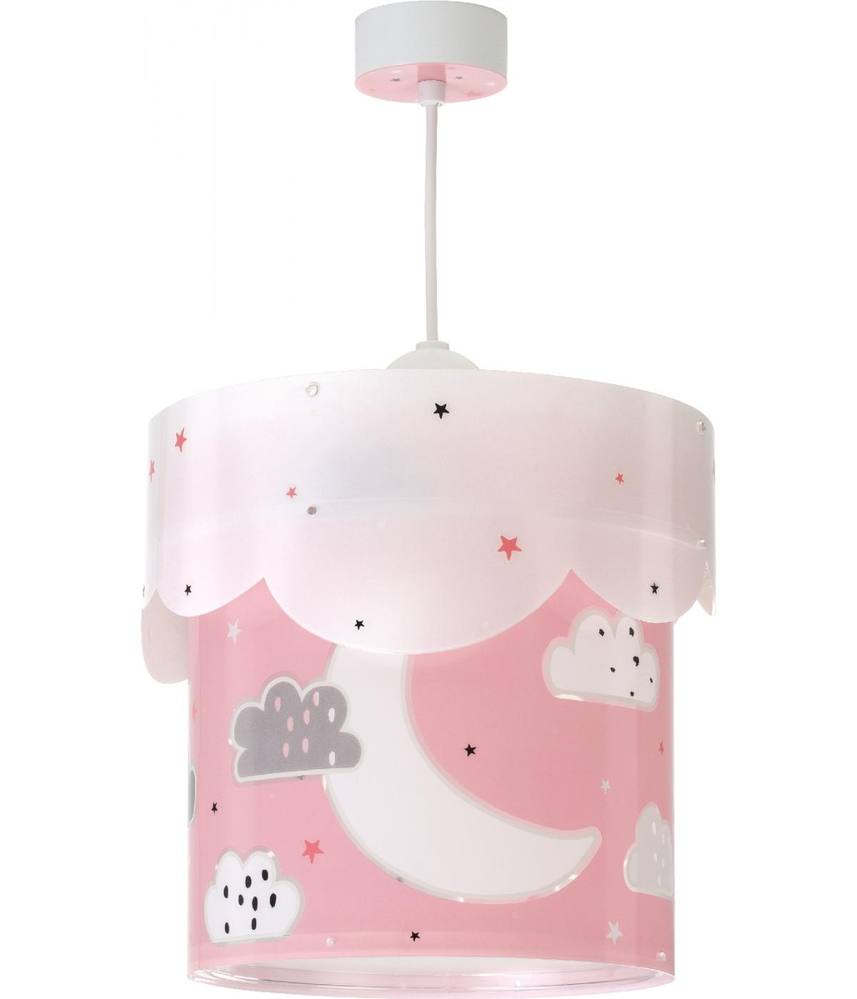 Lámpara de techo Infantil Moon rosa