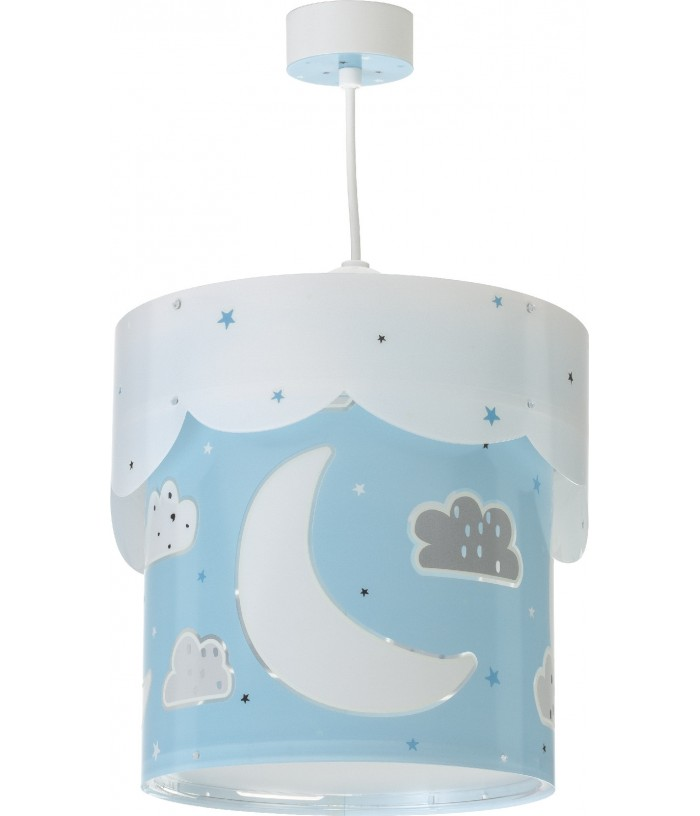 Hanging lamp for Kids Moon blue