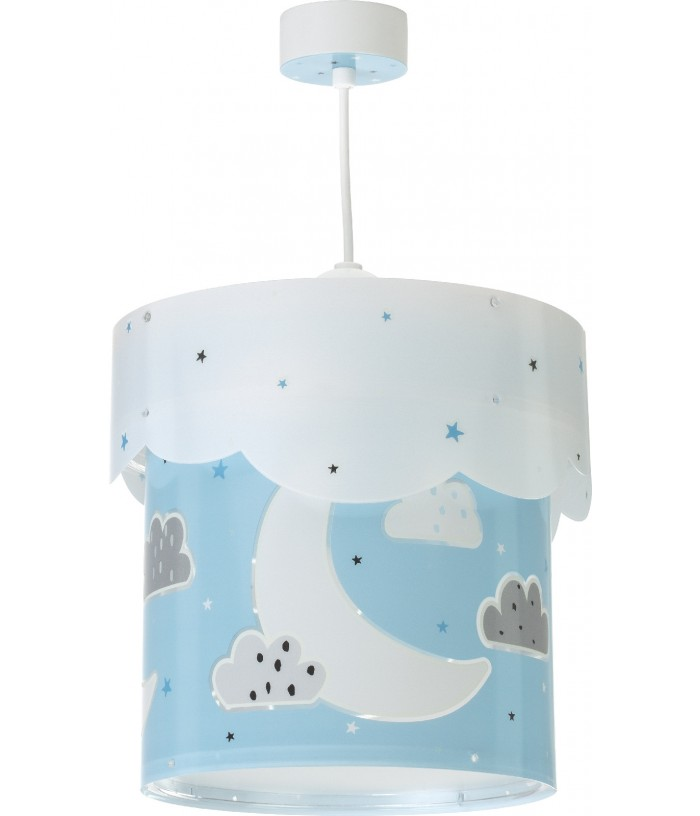 Children hanging lamp Moon blue