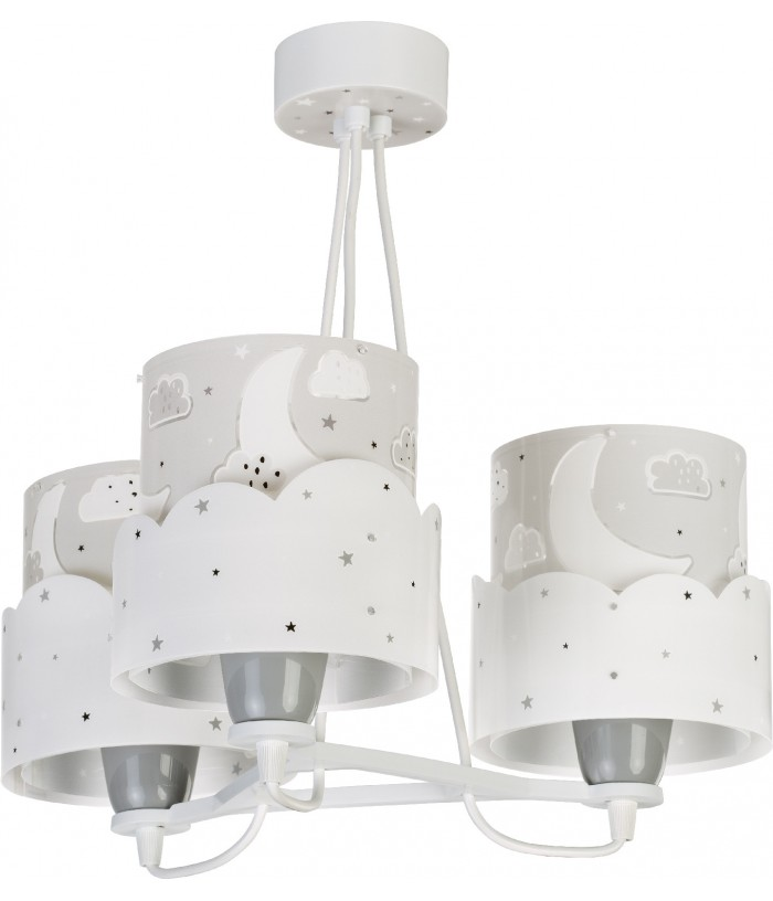 3 Light children hanging lamp Moon grey