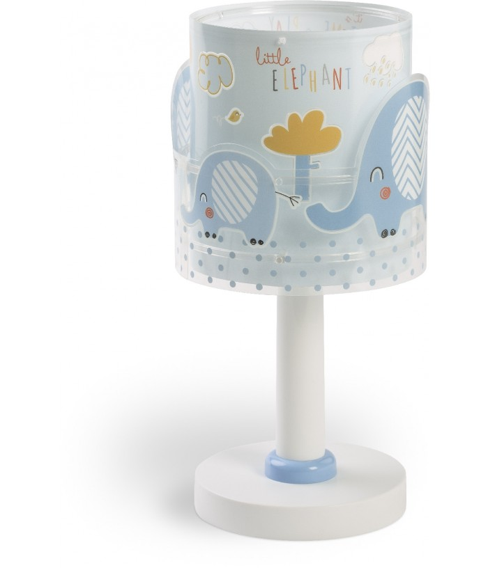 Children table lamp Little Elephant blue