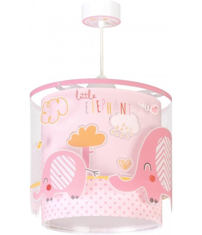Luminária infantil de tecto Little Elephant rosa