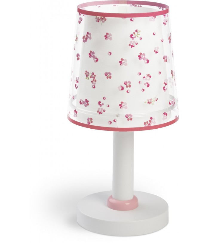 Lámpara infantil de mesita Dream Flowers rosa