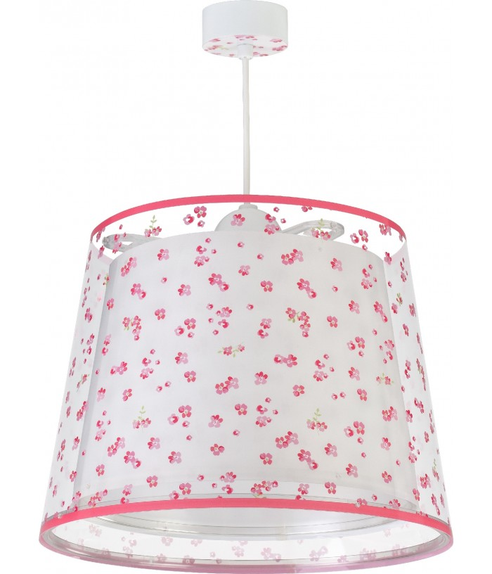 Luminária Infantil Pendente Dream Flowers Rosa