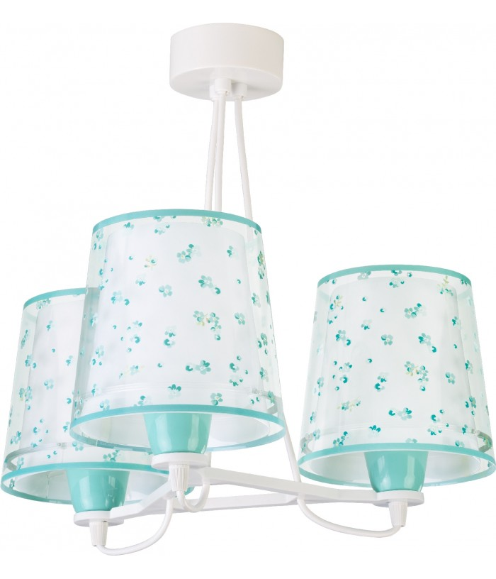 Children 3 light hanging lamp Dream Flowers green