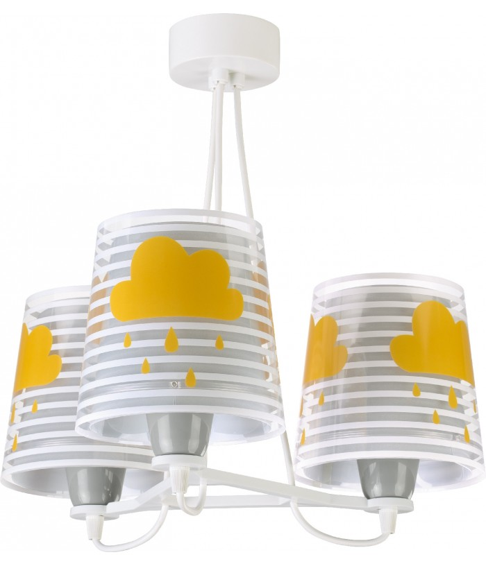Children 3 light hanging lamp Light Feeling gray