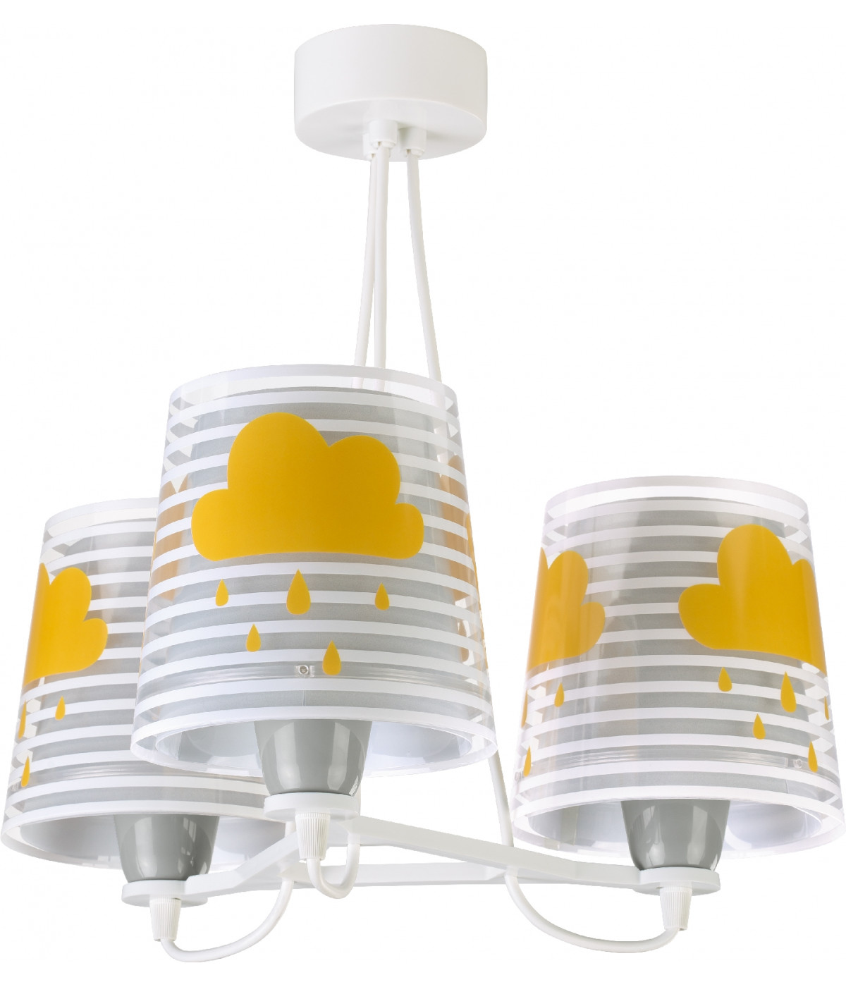 3 light Kids Hanging lamp Light Feeling grey