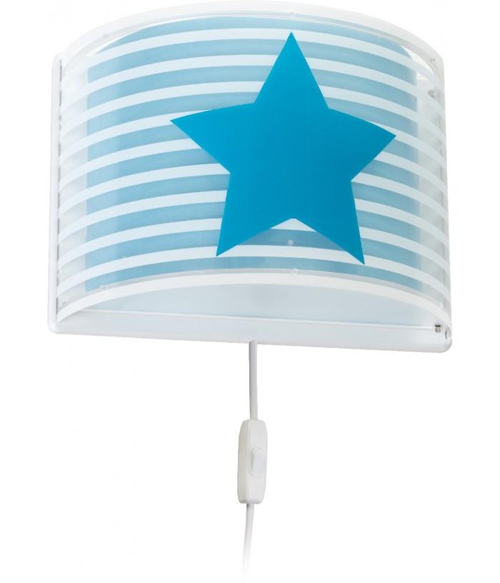 Applique per bambini con stelle Light Feeling blu