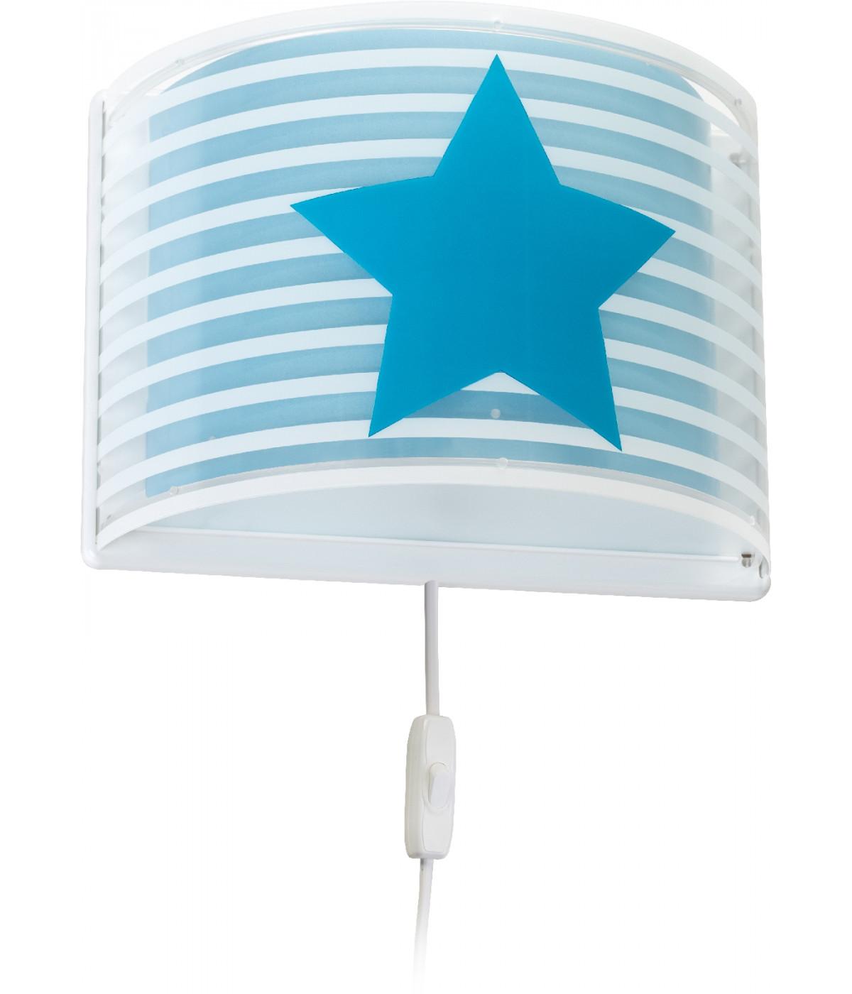 Arandela De Parede Infantil Light Feeling Azul