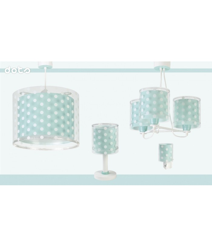 Kids night light Dots turquoise
