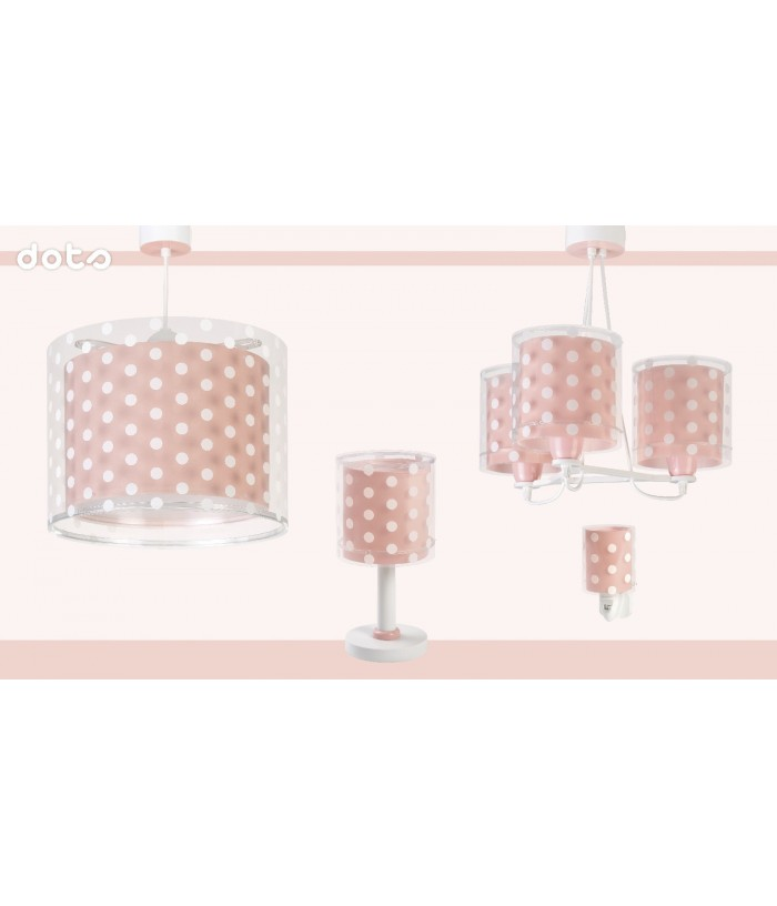 Kids Nightlight Dots Coral