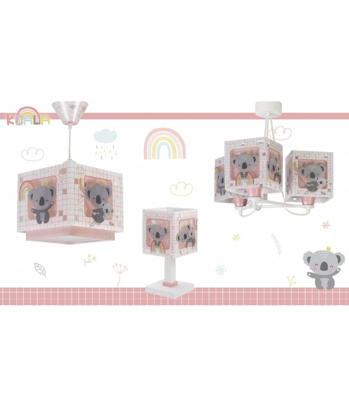 Children table lamp Koala pink