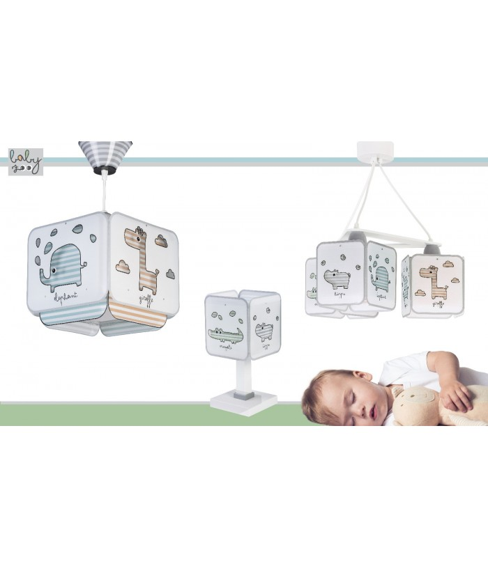 Table lamp for Kids Baby Zoo