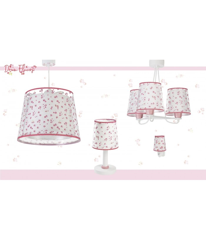 Children hanging lamp Dream Flowers pink