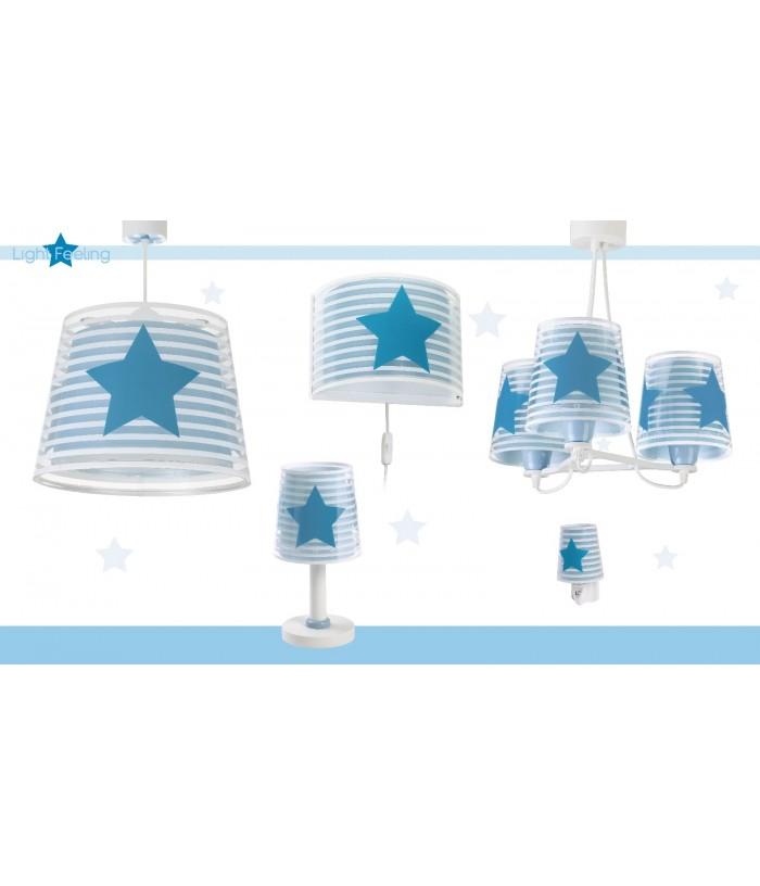Luminária Pendente Infantil De Três Luzes Light Feeling Azul