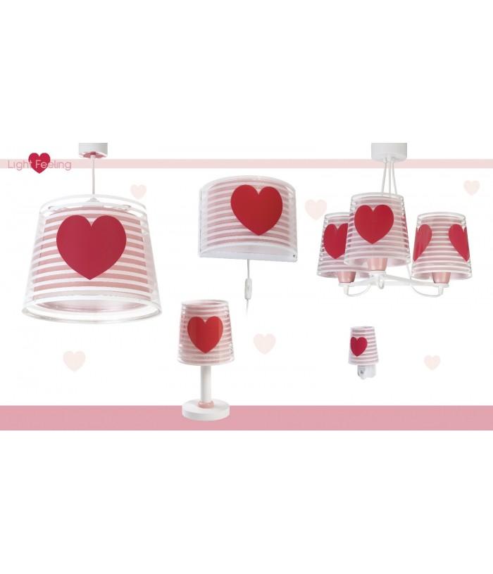 Aplique Infantil de paredLight Feeling rosa