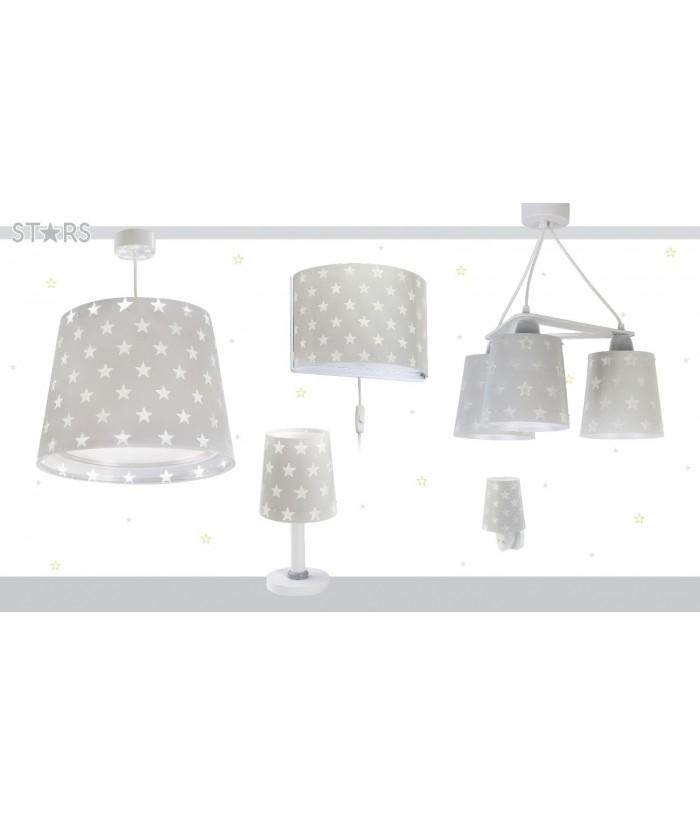 Lámpara Infantil de escritorio Stars gris