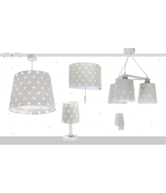 Table lamp for Kids Stars grey
