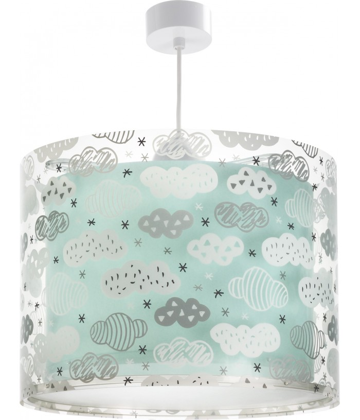 Children hanging lamp Clouds green
