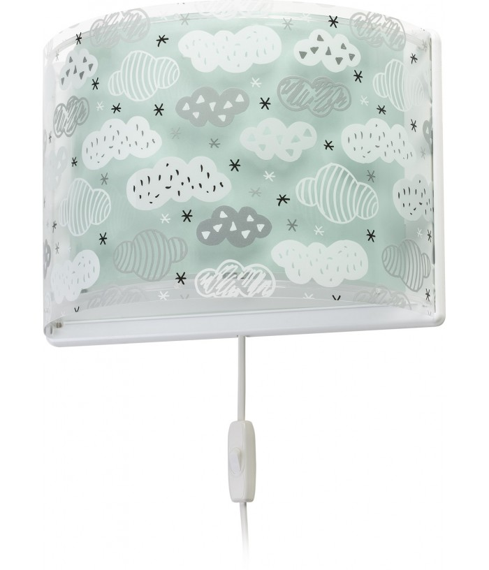 Aplique infantil de pared Clouds verde