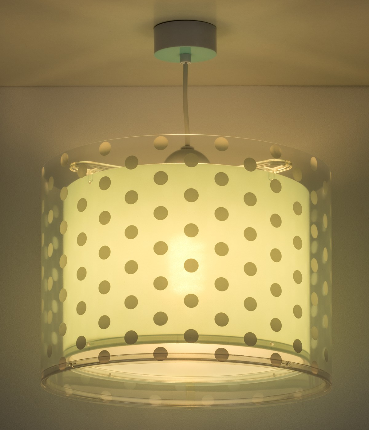 Children hanging lamp Dots turquoise