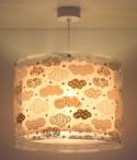 Lámpara infantil de techo Clouds rosa