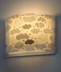 Wall lamp for children Clouds grey