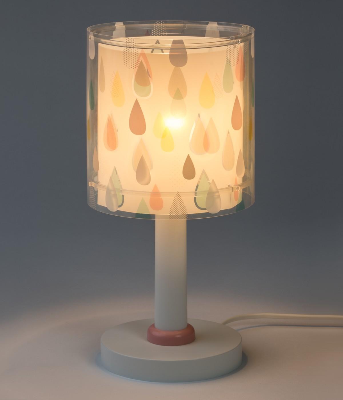 Lámpara infantil de mesita Color Rain