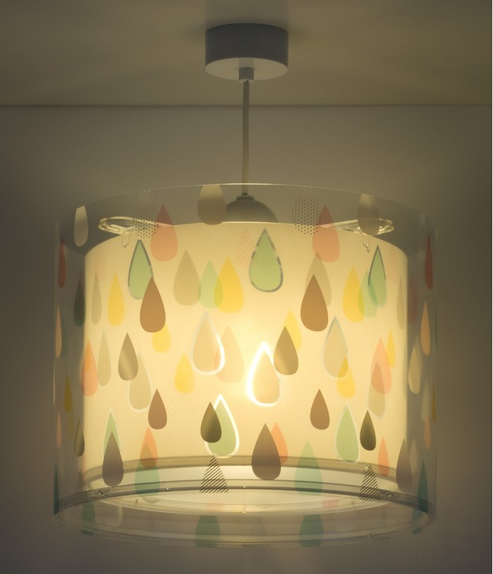Lámpara infantil de techo Color Rain