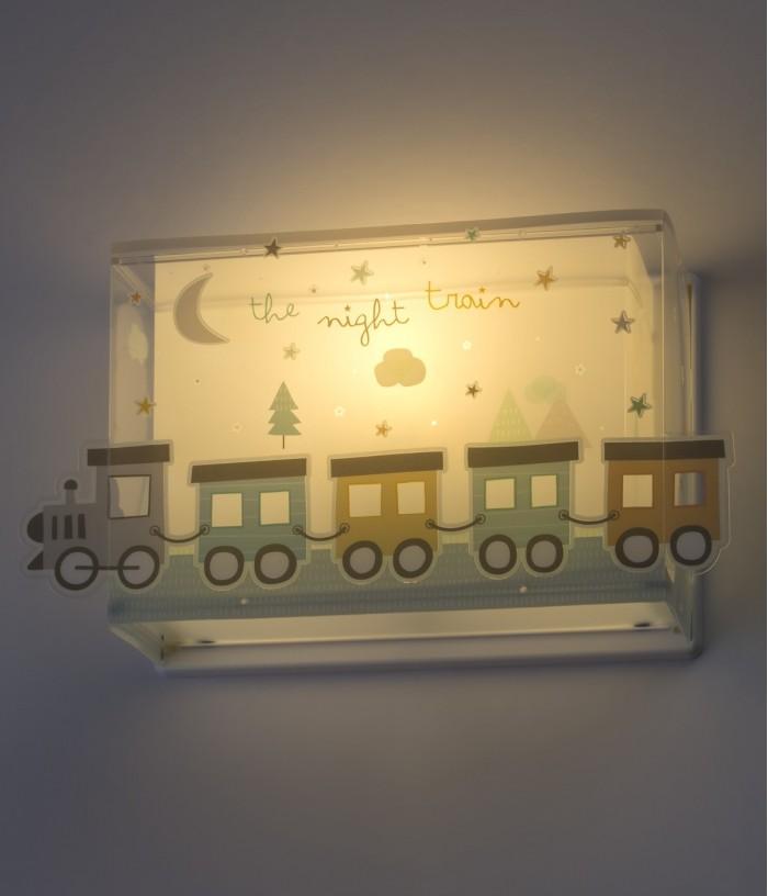 Aplique infantil de pared The Night Train