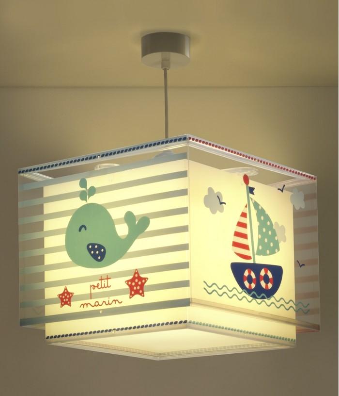 Candeeiro infantil de tecto com barco Petit Marin