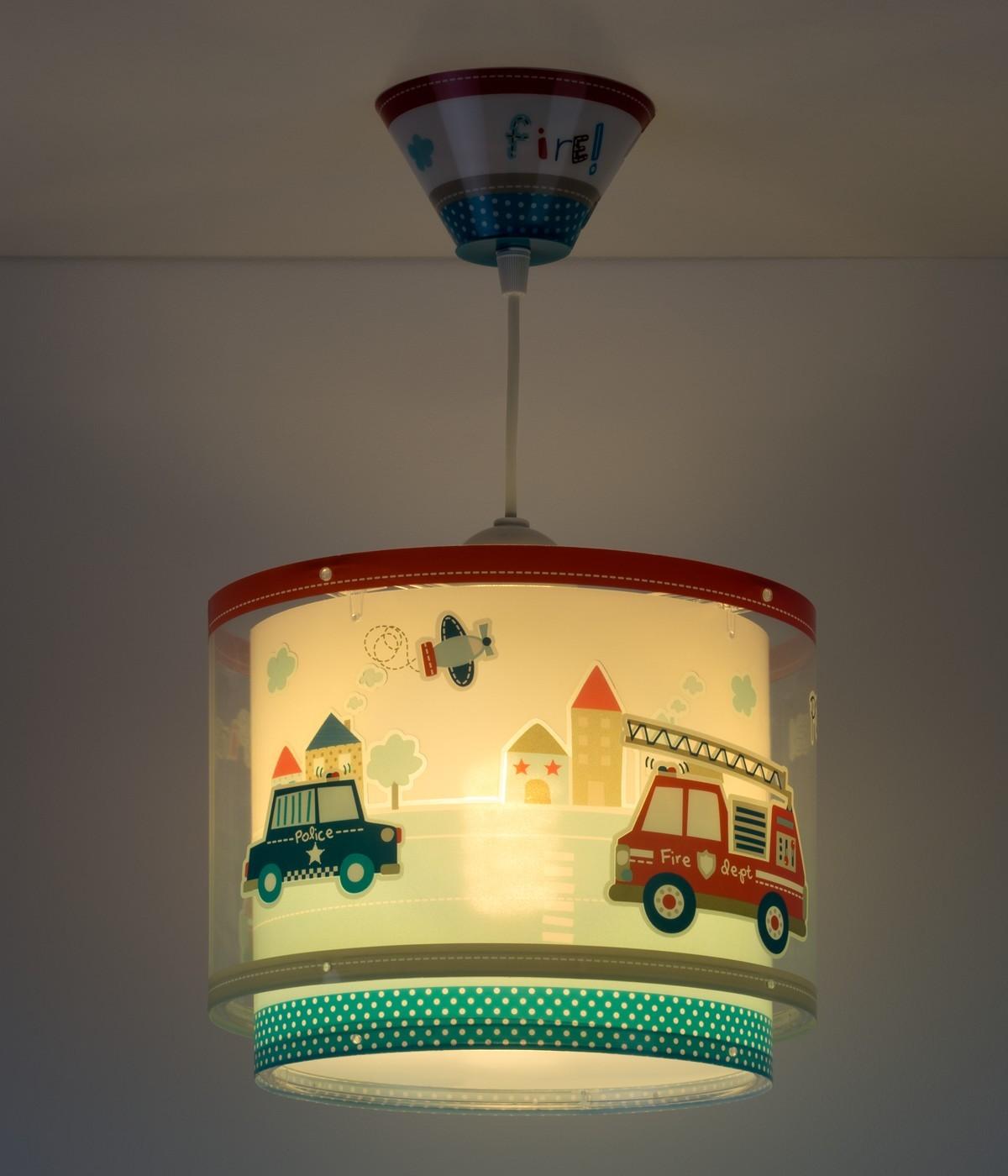 Lámpara infantil de techo Police