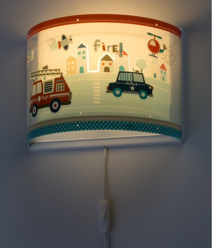 Wall lamp for Kids Police